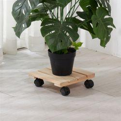 편백나무 원목 이동식 화분받침대 사각 26cm