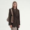 CLASSIC OVER BELTED JACKET BROWN