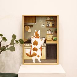 A3 종이 포스터 - 야식은 라면 고양이