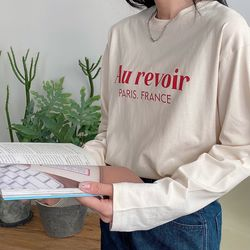 여성 긴팔티 코튼 베이직 티셔츠