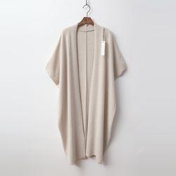 Merino Wool Shawl Open Long Cardigan