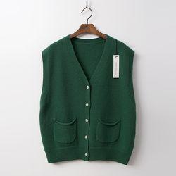 N Merino Wool Button Vest