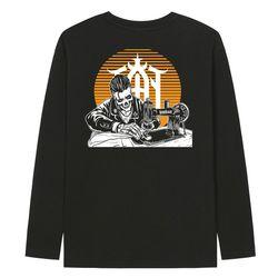 KLTB0157 칸커스텀 스타일 긴팔티셔츠 - 블랙(ITEMN21WIFF)