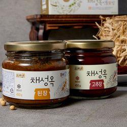 사나래 채성옥 전통愛 된장&고추장 2종세트 900g