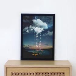 A3 종이 포스터 - 별빛이 내린다