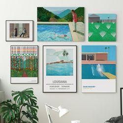 데이비드 호크니 포스터 액자 34종 거실 명화 그림 인테리어소품