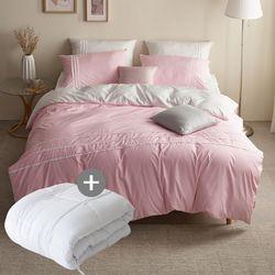 LEO 마이크로 먼지없는 호텔침구풀세트이불솜EK 핑크