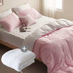 LEO 마이크로 먼지없는 호텔침구풀세트이불솜SK 핑크