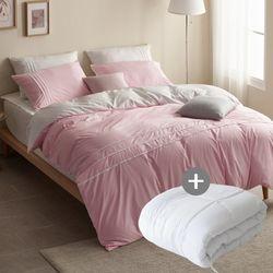 LEO 마이크로 먼지없는 호텔침구풀세트이불솜LK 핑크