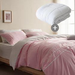LEO 마이크로 먼지없는 호텔침구풀세트이불솜K 핑크