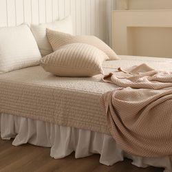 줄누빔 아사순면 60수 20mm 침대 패드 대형