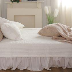줄누빔 아사순면 60수 20mm 침대 패드 베개커버세트+베개솜 중형