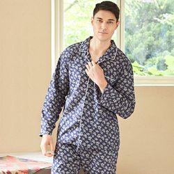 남성긴팔잠옷 네이비플라워 긴소매 페어 7024(남성)