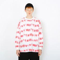 웨이브 물나염 긴팔티셔츠-핑크