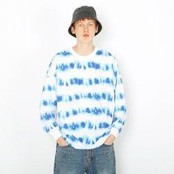 웨이브 물나염 긴팔티셔츠-블루