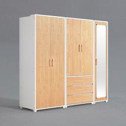 피너 거울 도어형 3서랍 선반 옷장 세트 2000 (착불)