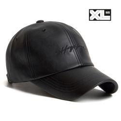 빅사이즈 볼캡 XL LEATHER HIGHLAND CAP BLACK