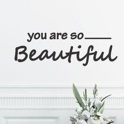 you are so beautiful 예쁜 레터링 인테리어 스티커 small
