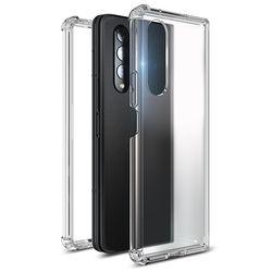 갤럭시 Z폴드3 퍼펙트핏 투명 케이스+외부 액정 강화유리필름