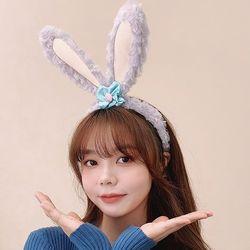 바니바니 복실복실 귀여운 토끼귀 헤어밴드 머리띠