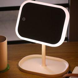 터치링 LED 조명 거울 라운드 메이크업 화장대 가로형