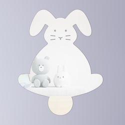 토끼 붙이는 아크릴 안전거울 유아 어린이 벽부착 거울
