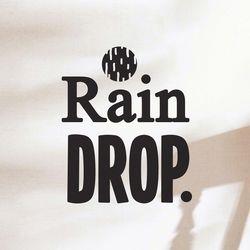 rain drop 감성 레터링 인테리어 스티커 small