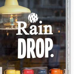 rain drop 감성 레터링 인테리어 스티커 large
