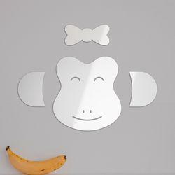 원숭이 DIY 아크릴 안전거울 유아 어린이 벽부착 거울
