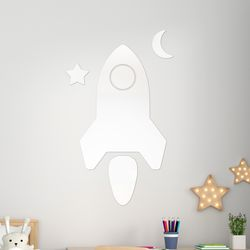 로켓 깨지지 않는 아크릴 안전거울 유아 어린이 거울