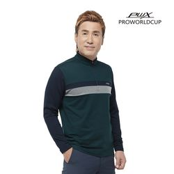 Q321-3155-1TN 남성 배색 집업 티셔츠 PWX(NEW03UNHR4)