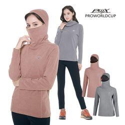 Q321-3654-55 여성 후드 마스크 티셔츠 PWX(NEWIRT40G1)