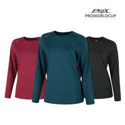 Q321-3651-53 여성 스포츠 라운드 티셔츠 PWX(NEWC1G1KJR)