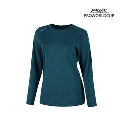 Q321-3652-1TN 여성 스포츠 라운드 티셔츠 PWX(NEWX46EFYX)
