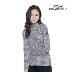 Q321-3255-1ZB 여성 프린트 집업 티셔츠 PWX(NEW0PMWWT3)
