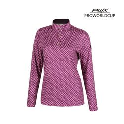 Q321-3254-1PL 여성 프린트 집업 티셔츠 PWX(NEWCCIUTZ5)