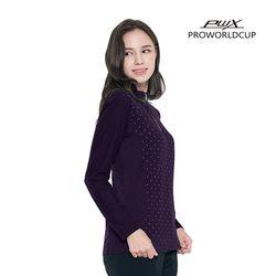 Q321-3253-1PL 여성 도트 집업 티셔츠 PWX(NEWF5SRCT5)