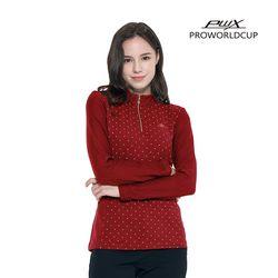 Q321-3251-1RD 여성 도트 집업 티셔츠 PWX(NEWA2LPNZE)