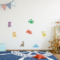아이방 벽면장식 블록공룡 데코 그래픽 스티커