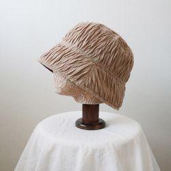 유니크 주름 플리츠 무지 벙거지 모자 버킷햇 (3color)