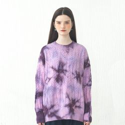 TIEDYEING SWEATER VIOLET