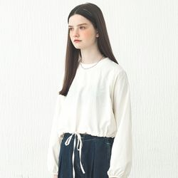 STRING CROPPED TS IVORY