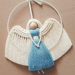 인형 마크라메 월데코(천사)D503