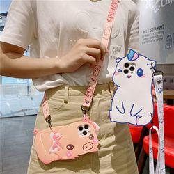 갤럭시 s21 21fe 귀여운 유니콘 돼지 스트랩 케이스