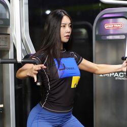 조이할리 여자 프라임 필라테스복 요가복 기능성 반팔 티셔츠