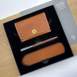 Gift Set - CW303S (카드지갑 우든펜 RP-303 펜슬리브)