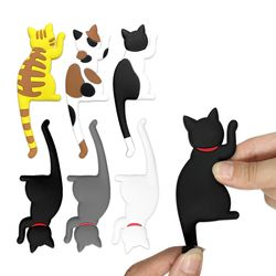 현관 냉장고 부착 자석 걸이 귀여운 고양이 후크 도어훅