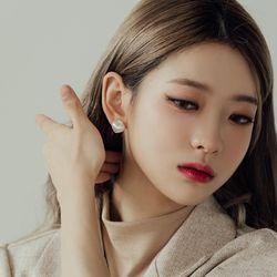 뽀오얀 오로라 하트 귀걸이 (21E079)