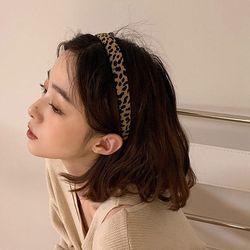 지크라 여성 레오파드 호피무늬 머리띠 헤어밴드