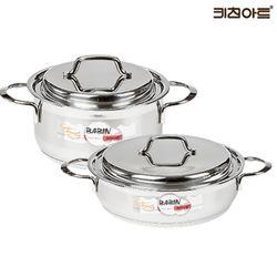 키친아트 바빈 바닥3중 스텐냄비세트 2종J(양24+전24)